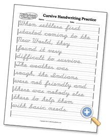 practice writing sheet