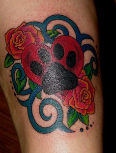 Cute not to sure about the blue design in the back but love the heart and roses.