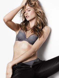 Trying is overrated. With light lining, sheer mesh, and a modern take on lace, this demi is an effortless (and essential) edition to your lingerie drawer. Wear it under whatever—it was meant to be shown off. | Fabulous by Victoria's Secret Demi Bra