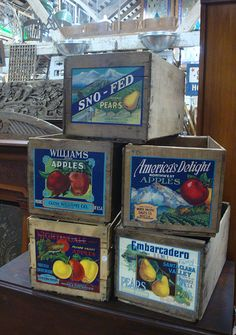 Wooden Fruit Boxes   Flickr - Photo Sharing!