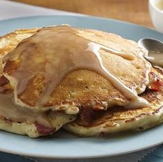 The Bake-Off is Coming: Bacon Corncakes with Warm Maple Cream