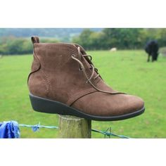 'suede' look Wedge Healed boot - we love this addition to our #vegan ladies boots #govegan #crueltyfree #veganshoes