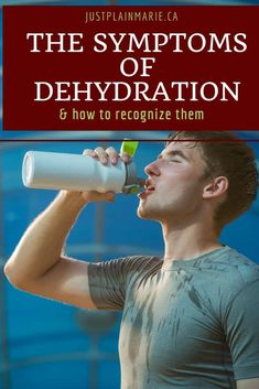 Learn the symptoms of dehydration in order to recognize it and prevent mild dehydration from turning into severe, dangerous forms. Wellness Tips, Health And Wellness, Health Fitness, Health Care, Signs Of Dehydration, Water For Health, First Aid Tips, Not Drinking Enough Water, Weight Loss Water