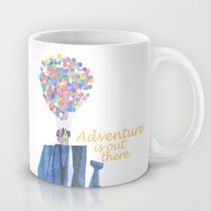 adventure is out there, disney pixar up, mug by studiomarshallgifts on Etsy -do a diy version! Coffee Love, Coffee Cups, Crackpot Café, Disney Coffee Mugs, Disney Cups, Disney Pixar Up, Cute Cups, Cool Mugs, Mug Cup