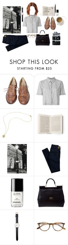 """""""Untitled #193"""" by sweetlikecinnamonnn ❤ liked on Polyvore featuring Studio TMLS, T By Alexander Wang, American Eagle Outfitters, Chanel, Dolce&Gabbana, Daniel Wellington, Paul & Joe and Mont Blanc"""