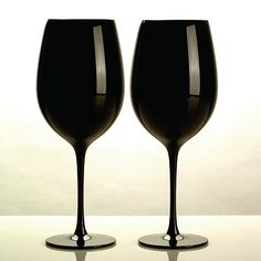 Black wine glass