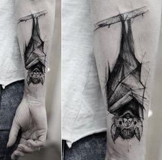 Картинки по запросу bat skull tattoo