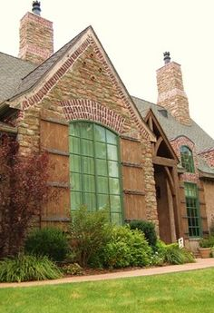 French Country Exterior Design Ideas, Pictures, Remodel and Decor=Love, Love, Love the stone/brick exterior