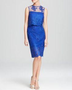 ML Monique Lhuillier Dress - Sleeveless Lace Two-Piece   bloomingdales.com