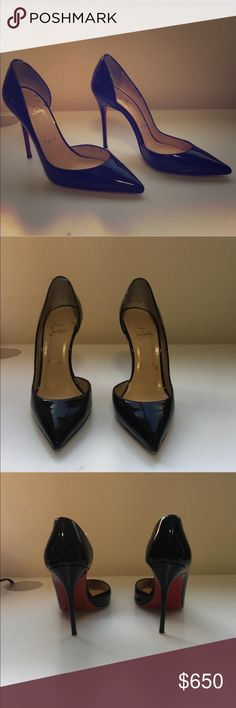Christian Louboutin Iriza only worn twice! Very classy shoes! I bought them 2 years ago and only wore them twice because they are a size to small. I now have ones that fit so I no longer need to hold on the them. Christian Louboutin Shoes Heels