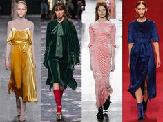 Valentino Rochas Preen and Ellery autumn 2016 fashion shows  Like Velvet The season's key fabric to note? Velvet. Wear it crushed, coloured or top-to-toe, anything goes as long as you don't ruin those Ellery boots in the rain.