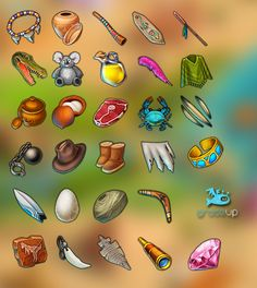 """Icons for games """"Secrets of the Past"""" on Behance"""