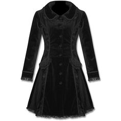 Womens Black Velvet Gothic Steampunk Victorian Coat ($70) ❤ liked on Polyvore featuring outerwear, coats, steampunk coat, steam punk coat, victorian coat, goth coat and gothic coat