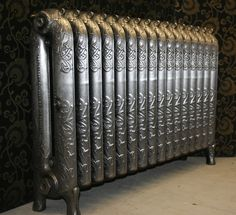 Very rare ornate radiator 'Toronto' shown with a hand polished finish. This radiator has been fully restored and is ready to go. Cast Iron Radiators, Originals Cast, Toronto, Restoration, It Is Finished