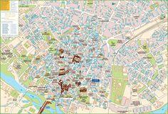 Santiago de Compostela tourist map Maps Pinterest Tourist map