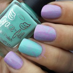 """""""I am in love with these polishes from @gracefullnailpolish  They are just so lovely. Such beautiful creamy colors and they cover so well. I stamped…"""""""