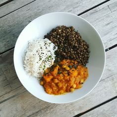 Mon curry veggie Curry D'aubergine, Cordon Bleu, Chana Masala, Coco, Risotto, Plant Based, Lunch Box, Veggies, Food And Drink