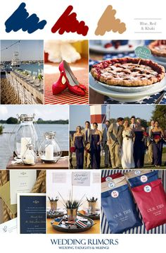 Cherry pie, candy buffet wedding bags, navy blue a& khaki wedding party, red wedding shoes. my wedding reception ideas · july wedding Khaki Wedding, Red Wedding Shoes, Wedding Bag, July Wedding, Wedding Colors, Dream Wedding, Summer Wedding, Wedding Stuff, Beach Table Settings
