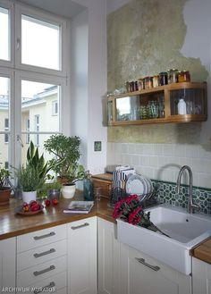 Nowoczesna Biala Kuchnia Stylizowana Na Stara Kitchen Decor Home