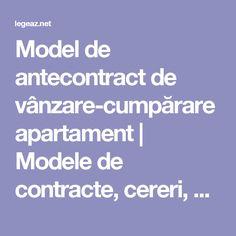 Model de antecontract de vânzare-cumpărare apartament | Modele de contracte, cereri, acţiuni si alte acte