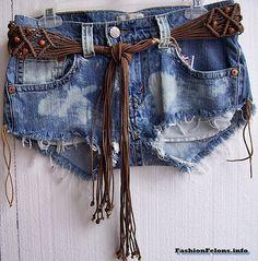 Cool Hippie retro Denim hot pants daisy duke by fashionfelons, $29.00