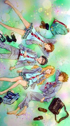Tsubaki , Arima Kousei , Kaori Miyazono , Watari ♡