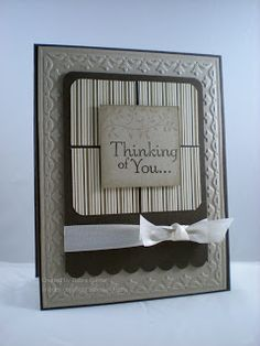 handmade card by ARTfelt Impressions: Thinking Mocha ... like the neutral colors ... good and versatile design ... Stampin' Up!