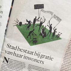 Mini illustration in today's @hetparool  Babyboom-drama  #editorial #illustration #babyboomers #drawing #sketch #doodle #amsterdam #sssssst #rustigslapen