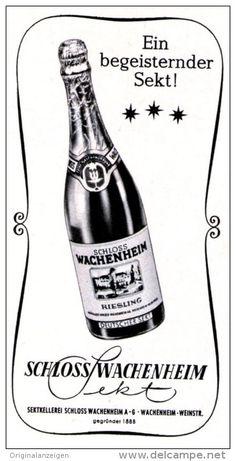 Original-Werbung/ Anzeige 1968 - SCHLOSS WACHENHEIM SEKT - ca. 45 x 80 mm