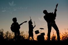 Rock band sillhouette-10