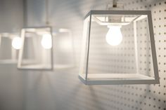 A line of Iacoli & McCallister lights in the home office. — Sunset Magazine Celebration Weekend