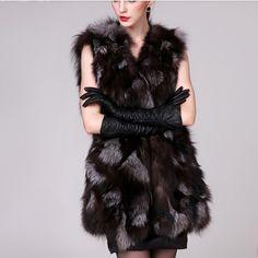 >> Click to Buy << Autumn Winter Women's Genuine Real Silver Fox Fur Vest Lady Warm Waistcoat Female Gilet VF0539 #Affiliate