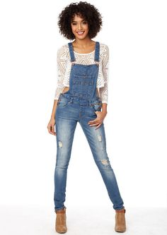 Dickies Women's Plus-Size Relaxed Fit Denim Bib Overall Jeans ...