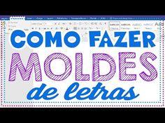 Moldes de Letras: Como Fazer Moldes de Letras no Word - YouTube Sonic And Amy, 3d Letters, Quilling, 3 D, Stencils, Diy And Crafts, Alphabet, Patches, Words
