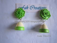Handmade Jewelry - Paper Quilling Jhumka (FAH212) (1)