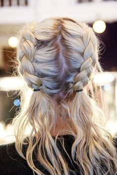 Hair accessory: blonde hair, prom beauty, hairstyles, braid, hair/makeup inspo - Wheretoget