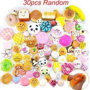 30pcs Lot Mini Random Squishies Soft Panda Bread Cake Buns Phone
