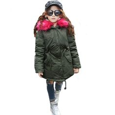 62.27$  Buy here - http://alicw9.shopchina.info/go.php?t=32739196573 - Fahison 2017 children clothing long boys winter jackets girls down coat big fur collar hooded children outwear thicken overcoat 62.27$ #bestbuy