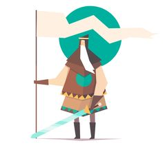 Cyan Sun Squad - King // Concepts for a game im working on with Ariel Belinco.