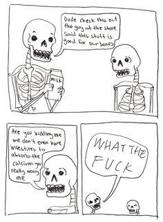 No Bones About Nutrition - Comics from around the Web Dankest Memes, Funny Memes, Hilarious, Jokes, Steven Universe, 4 Panel Life, Pokemon, Bad Puns, Spooky Scary