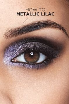 Take your eye shadow up a notch this weekend with a smoky, metallic lilac look from Maybelline. First, grab Maybelline's The Rock Nudes palette that comes in 12 shadows and is edited for edge. Color the entire eye area with shadow. Then, shade the lid and contour the crease. Finish off with eyeliner around your eye for an ultimate smoky rock nude look perfect for day or evening.