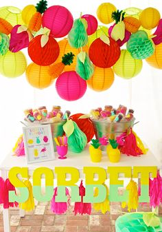 Summer Sorbet Party Station