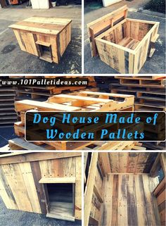 Dog House Made of Wooden Pallets   101 Pallet Ideas
