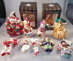 Lot-Vintage-Christopher-Radko-Ornaments-Frosty-Snowman-Muffy-Twinkle-Fairy-Bears