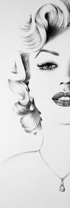 Marilyn Monroe By: Ileana Hunter Marilyn Monroe Tattoo, Marilyn Monroe Dibujo, Marilyn Monroe Drawing, Marilyn Monroe Artwork, Drawing Sketches, Pencil Drawings, Art Drawings, Drawing Ideas, Zeichnung Marilyn Monroe
