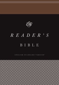 """read through the ESV reader's Bible // using the """"reader's plan"""" and using the book order from the NIV sola scriptura Bible"""