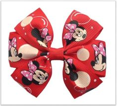 Cute Boutique Red Mickey Minnie Mouse Pinwheel Hair Bows With Alligator Clip Place your comments in notes to let us know what you would like on your hair bow. You may email us at Ribbon Hair Bows, Diy Hair Bows, Diy Ribbon, Little Princess, Disney Bows, Disney Headbands, Minnie Mouse Bow, Hair Bow Tutorial, Hair Decorations
