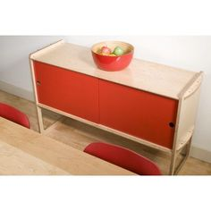 Housefish Key Accent Cabinet Finish: Maple, Color: Red