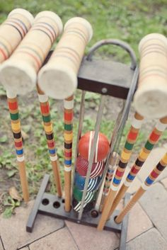 Would love to enjoy a game of croquet on our special day...reminds me off my late father and how we use play it in the back yard as a family.