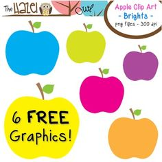 FREE Apples Set: Clip Art Graphics for Teachers {Bright Chevrons} Puzzle Piece Template, Apple Clip Art, Fall Clip Art, Classroom Freebies, Classroom Decor, Teaching Materials, Teaching Resources, Free Graphics, Graphic Organizers